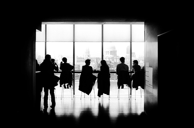 silhouette business meeting
