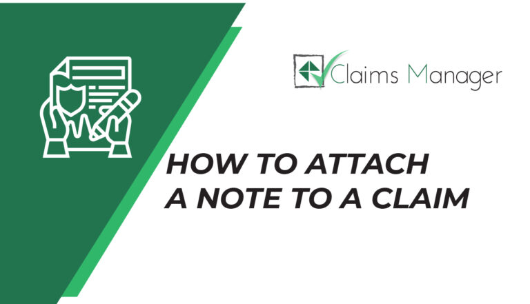 How to attach a note to a claim