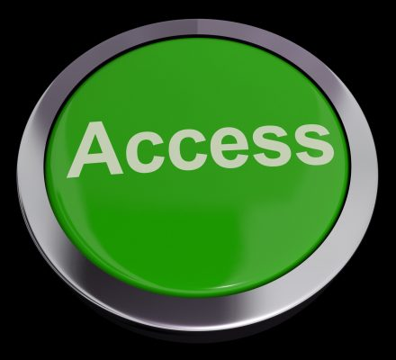 Access Button In Green Showing Permissions And Security